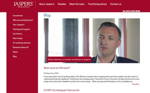 Screenshot of Blog jaspers-franchise.co.uk - Blog - captured Nov. 19, 2016