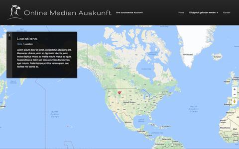 Screenshot of Locations Page online-medien-auskunft.de - Locations Archives | Online Medien Auskunft - captured June 19, 2017
