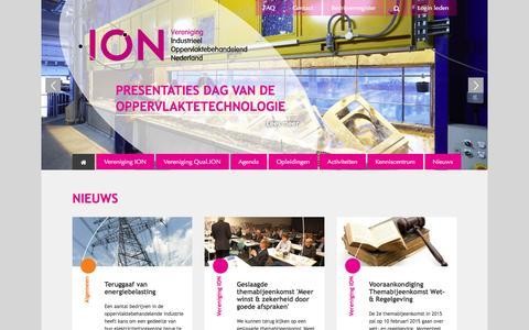 Screenshot of Home Page vereniging-ion.nl - Home | Vereniging ION - captured Jan. 29, 2015
