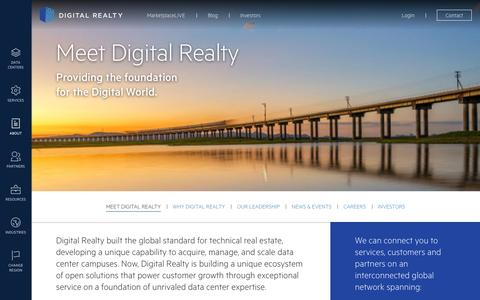 Screenshot of About Page digitalrealty.com - Meet Digital Realty | Digital Realty - captured Nov. 24, 2016