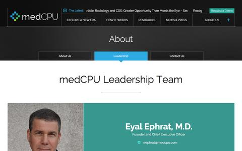 Screenshot of Team Page medcpu.com - Meet the healthcare information systems leadership team |medCPU - captured Dec. 4, 2015