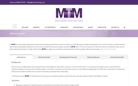 Screenshot of Case Studies Page mtmconsulting.co.uk - MTM case studies - mtm consulting - captured Oct. 21, 2017