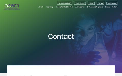 Screenshot of Contact Page aceraschool.org - Contact - K-8 STEAM School - captured Feb. 22, 2018