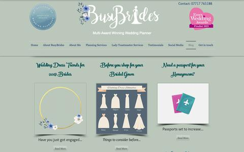 Screenshot of Blog busybrides.co.uk - Blog | London | BusyBrides Wedding Planners - captured Oct. 23, 2018