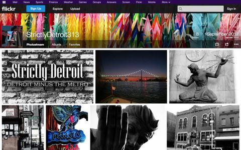Screenshot of Flickr Page flickr.com - Flickr: StrictlyDetroit313's Photostream - captured Oct. 25, 2014