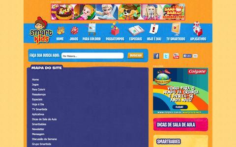 Screenshot of Site Map Page smartkids.com.br - Jogos Educativos, Desenhos para colorir e pintar, Educação infantil - Smartkids - captured Nov. 1, 2014