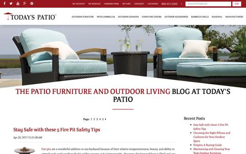 Screenshot of Blog todayspatio.com - The Patio Furniture and Outdoor Living Blog At Today's Patio - captured July 5, 2017