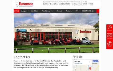 Screenshot of Contact Page euromec.co.uk captured Nov. 11, 2016
