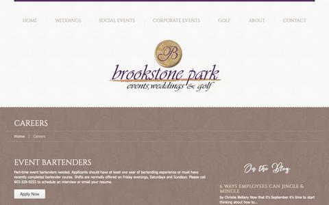 Screenshot of Jobs Page brookstone-park.com - Careers - Brookstone Park: Event Center & GolfBrookstone Park: Event Center & Golf - captured Oct. 6, 2018