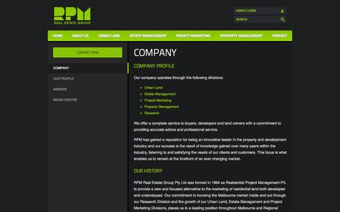 Screenshot of About Page rpmrealestate.com.au - Company » RPM Real Estate Group - captured Oct. 7, 2014