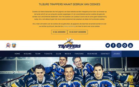 Screenshot of Contact Page trappers.nl - Contact opnemen met Tilburg Trappers   Vul ons contactformulier in - captured Oct. 19, 2018