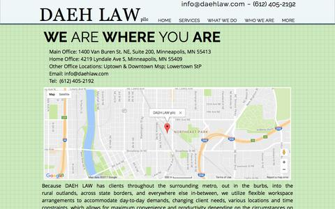 Screenshot of Maps & Directions Page daehlaw.com - DAEH LAW | TAX/ LEGAL/ FINANCIAL/  | MAP - captured June 3, 2017