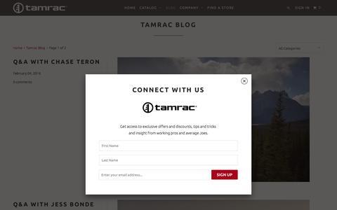 Screenshot of Blog tamrac.com - Official Tamrac Blog - TAMRAC - captured Feb. 8, 2016