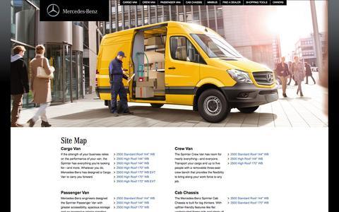 Screenshot of Site Map Page mbsprinterusa.com - The 2015 Sprinter Van. Built to Work Smarter. - captured Nov. 2, 2014
