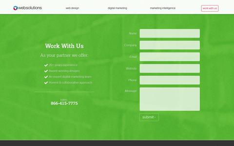 Screenshot of Contact Page websolutions.com - Contact Web Solutions - captured Oct. 1, 2018