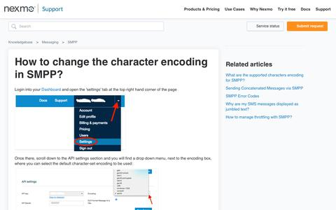 How to change the character encoding in SMPP? – Knowledgebase