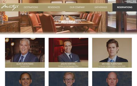 Screenshot of Team Page montagehotels.com - Luxury Resort Management Company Expertise | Montage Corporate - Corporate Bios - captured Jan. 14, 2016
