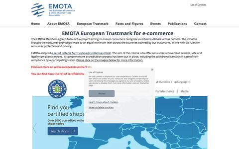 Screenshot of Signup Page emota.eu - e-Commerce Trustmarks - captured Oct. 13, 2017