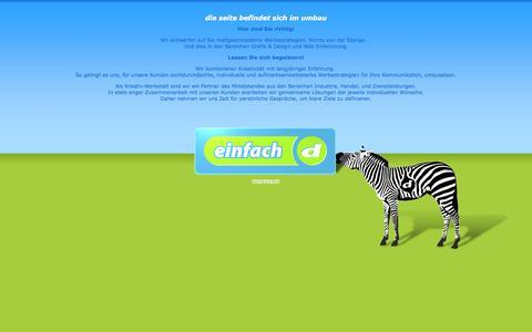 Screenshot of Home Page einfach-d.de - einfach d - christian sedlag - captured Sept. 30, 2014