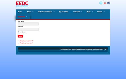 Screenshot of Login Page enugudisco.com - Login - captured May 25, 2016