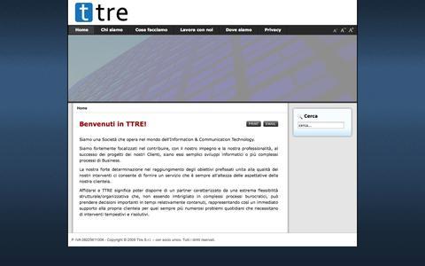 Screenshot of Home Page ttreinformatica.it - Ttre Informatica - captured Oct. 9, 2014