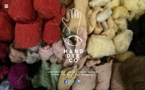 Screenshot of Home Page handdye.co - The Hand Dye Company - captured Feb. 26, 2016