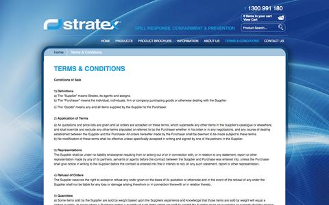 Screenshot of Terms Page stratex.com.au - Stratex - Terms & Conditions - captured Oct. 7, 2014