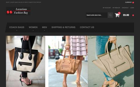 Screenshot of Home Page reginabassfirm.com - Your Destination for Men & Women to Get Trendy Bags of High Quality Online - captured May 5, 2016