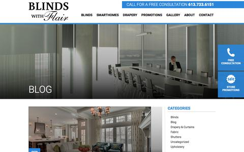 Screenshot of Blog blindswithflair.com - Our Blog - New Articles | Blinds with Flair - captured Aug. 2, 2018