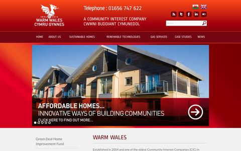 Screenshot of Home Page warmwales.org.uk - Home - Warm Wales |   Warm Wales - captured Oct. 6, 2014