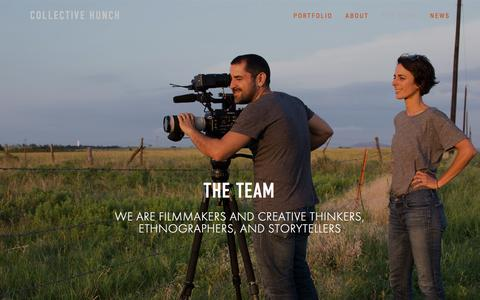 Screenshot of Team Page collectivehunch.com - The Team-COLLECTIVE HUNCH - captured May 20, 2017