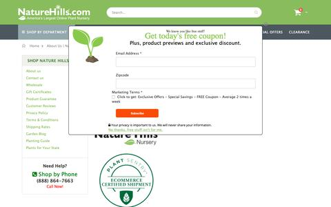 Screenshot of About Page naturehills.com - About Us | Nature Hills Nursery - captured March 1, 2019