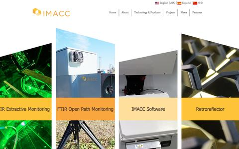 Screenshot of Home Page imacc-instruments.com - IMACC FTIR-Leading Technology in Environmental and Process Monitoring - captured Nov. 18, 2016