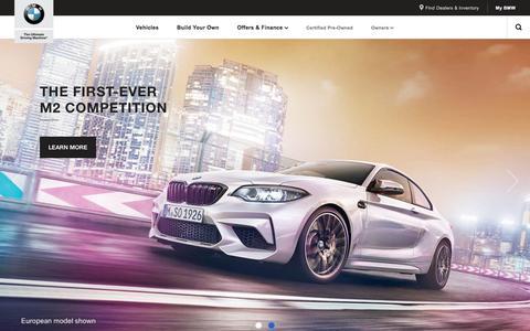 BMW USA: Luxury Sedans, SUVs, Convertibles, Coupes & Wagons