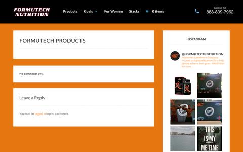 Screenshot of Products Page formutechnutrition.com - FORMUTECH PRODUCTS - Formutech Nutrition - captured Aug. 3, 2015