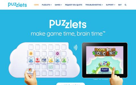 Screenshot of Home Page digitaldreamlabs.com - Puzzlets – Award-Winning EdTech Product from Digital Dream Labs - captured May 9, 2017
