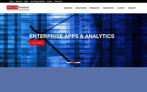 Screenshot of Home Page infolob.com - Oracle Platinum Partner. Remote DBA, Hosting, BI, eBusiness & Retail Specialists.On Premise & Cloud Reseller. | INFOLOB - captured Dec. 5, 2015