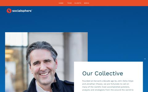 Screenshot of Team Page socialsphere.com - Team — SOCIALSPHERE - captured Oct. 18, 2018