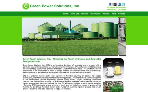 Screenshot of Home Page gps-biomass.com - Green Power Solutions | Biomass Renewable Energy Resources - captured Oct. 3, 2014