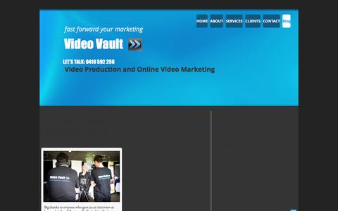Screenshot of Blog videovault.com.au - Video Marketing Blog - captured Dec. 11, 2016