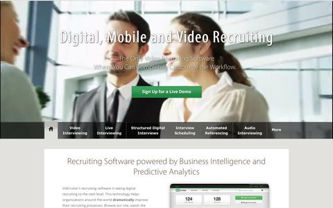Screenshot of Home Page vidcruiter.com - Video Recruiting and Video Interviewing Software Company - captured June 12, 2017