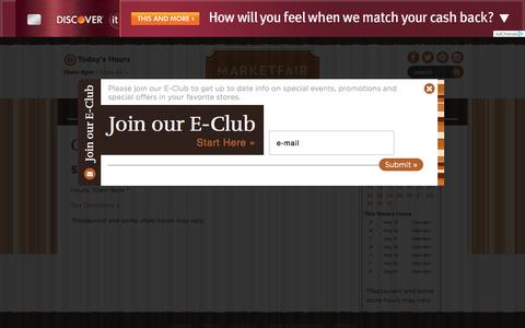 Screenshot of Hours Page marketfairmall.com - MarketFair ::: Princeton ::: NJ - captured May 21, 2016