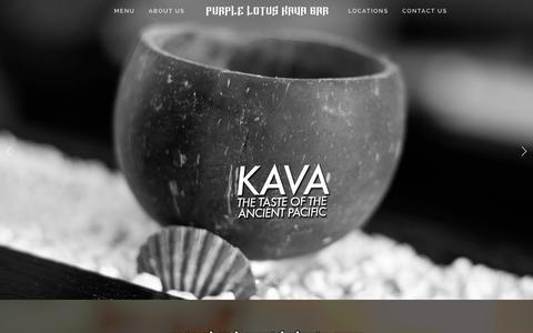 Screenshot of Home Page purplelotuskavabar.com - Purple Lotus Kava Bar - captured Jan. 21, 2015
