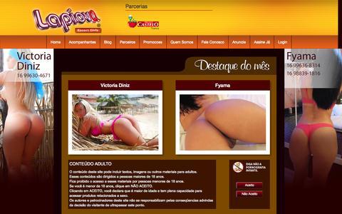Screenshot of Home Page lapiova.com - lapiova Escort Girls - captured Nov. 13, 2015