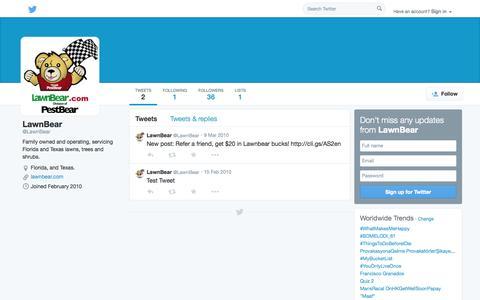 Screenshot of Twitter Page twitter.com - LawnBear (@LawnBear) | Twitter - captured Oct. 27, 2014