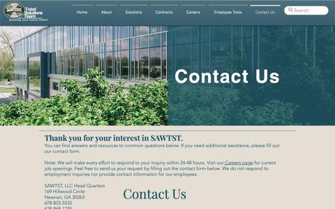 Screenshot of Contact Page sawtst.com - Contact Us | SAWTST, LLC - captured March 21, 2019