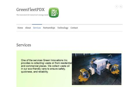 Screenshot of Services Page greenfleetpdx.com - Services | GreenFleetPDX - captured Oct. 3, 2014