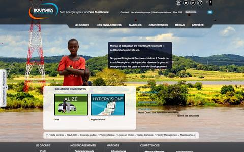 Screenshot of Home Page exprimm.fr - Bouygues Energies & Services - captured Oct. 3, 2014