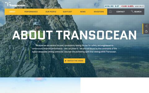 Screenshot of About Page deepwater.com - About Transocean | Offshore Drilling Contractors - captured June 27, 2017