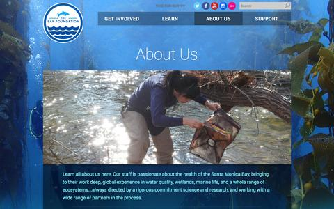 Screenshot of About Page santamonicabay.org - About Us - The Bay Foundation - captured Oct. 4, 2014